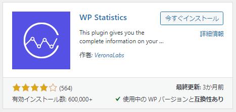 IPアドレスを取得できるWordpressプラグイン「WP statistics」